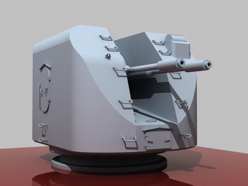 دانلود پروژه طراحی توپ جنگی ناو AK-726