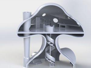 دانلود پروژه طراحی خانه گنبدی مدرن (Dome house)