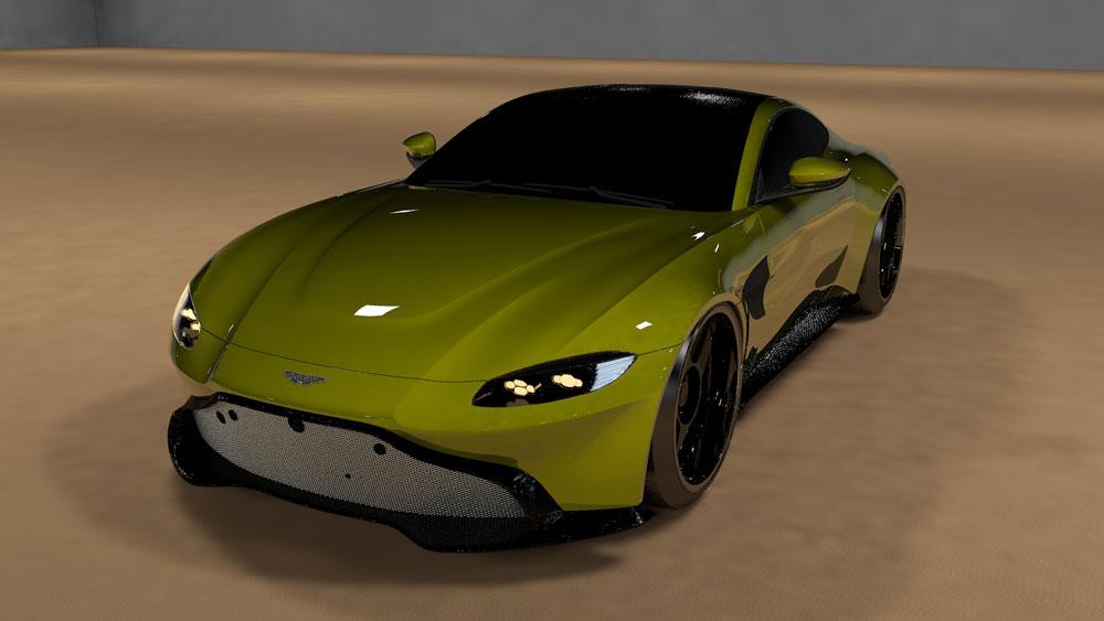 دانلود پروژه طراحی خودرو استون مارتین ونتیج 2019 (2)