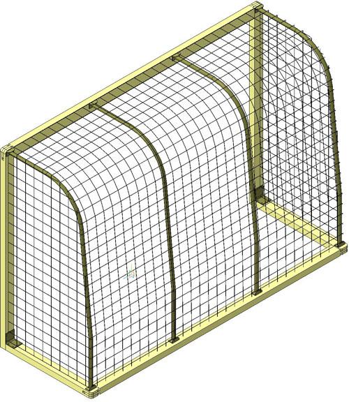 دانلود پروژه طراحی دروازه فوتبال گل کوچک