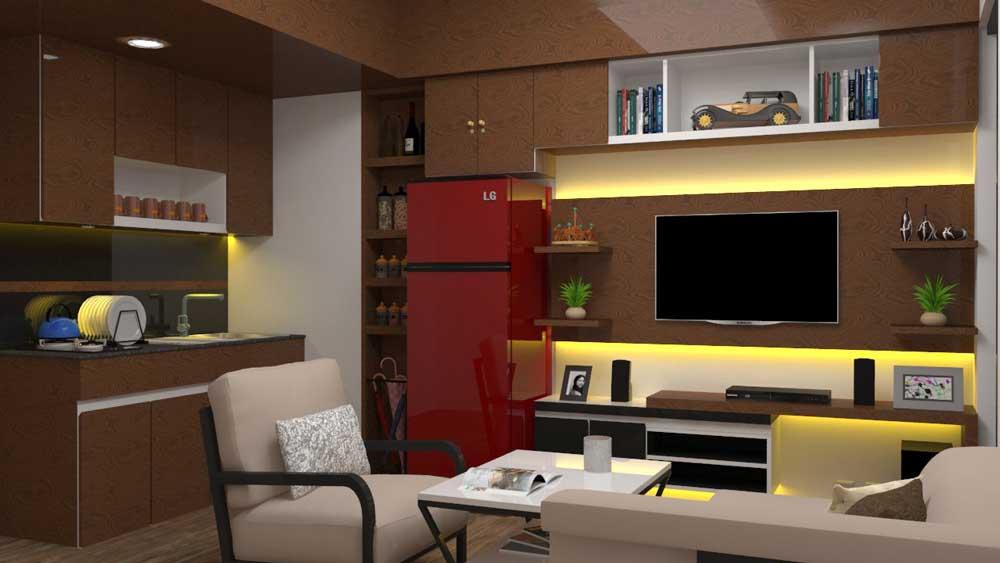دانلود پروژه طراحی دکوراسیون داخلی آپارتمان کوچک