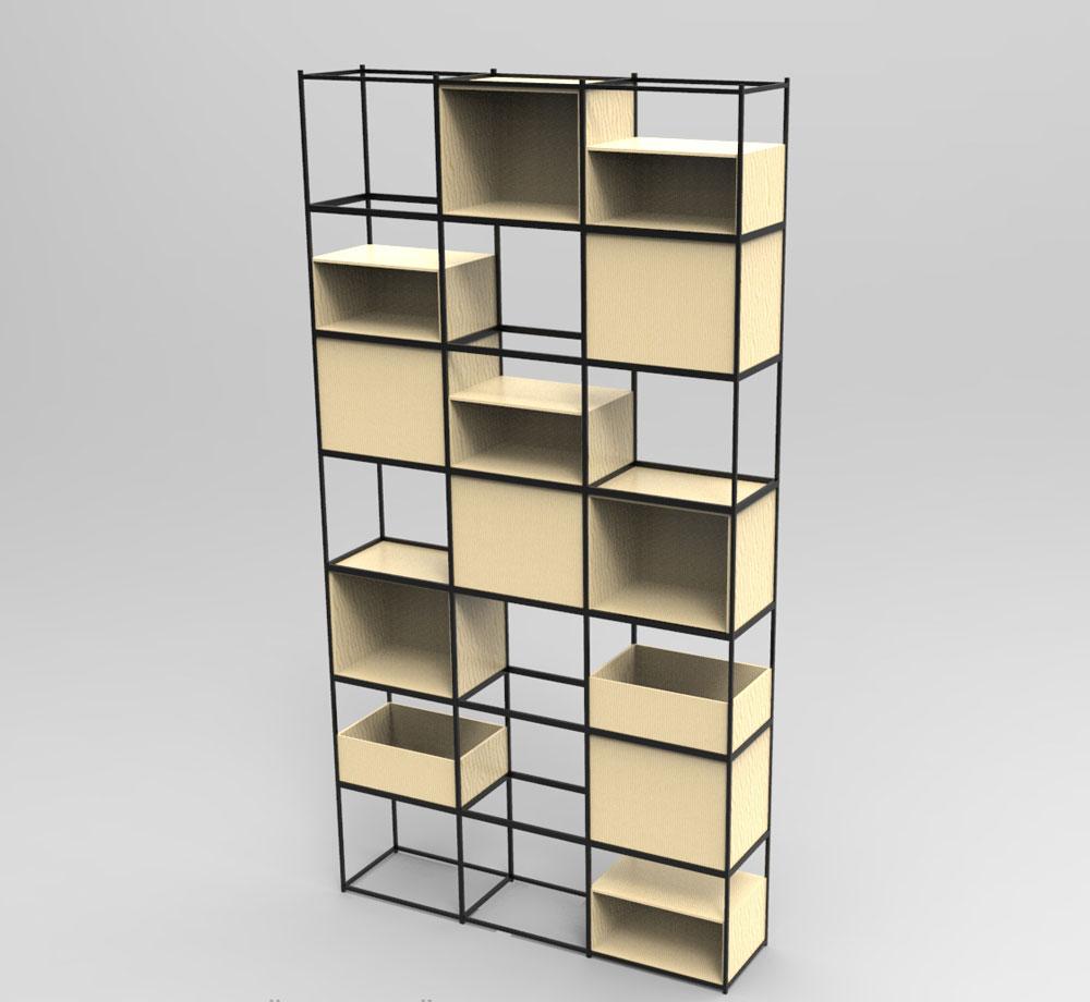دانلود پروژه طراحی قفسه مدرن
