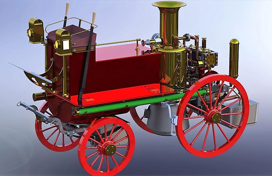 دانلود پروژه طراحی ماشین آتش نشانی کلاسیک شاند ماسون (Shand Mason)