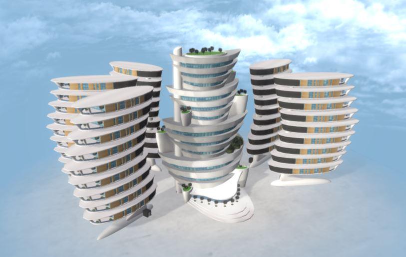 دانلود پروژه طراحی مجتمع مسکونی مفهومی