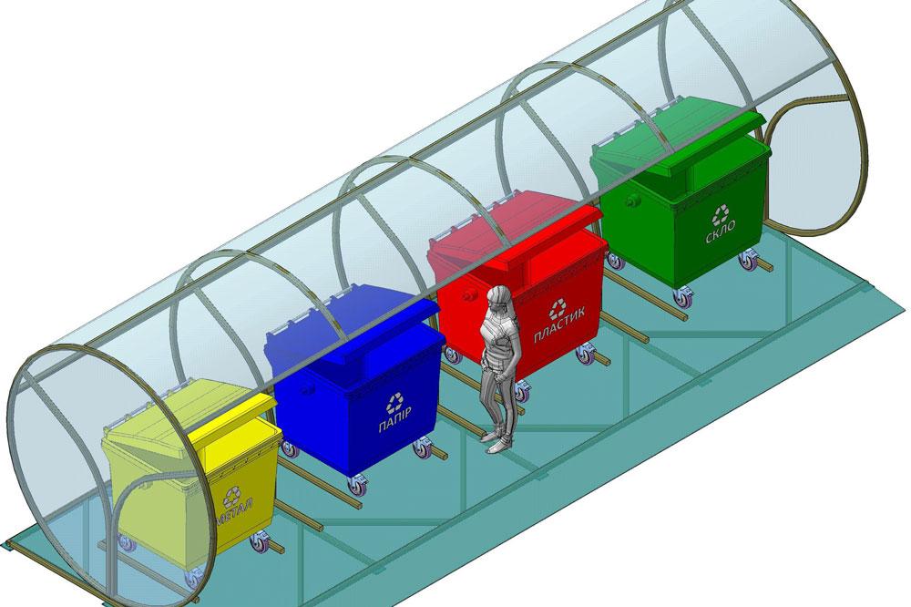 دانلود پروژه طراحی محل جمع آوری و تفکیک زباله مدرن