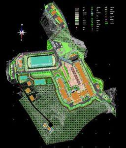 دانلود پروژه طراحی محوطه سازی مدرسه دانشگاه
