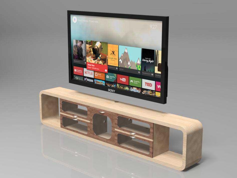 دانلود پروژه طراحی میز تلویزیون چوبی مدرن (1)