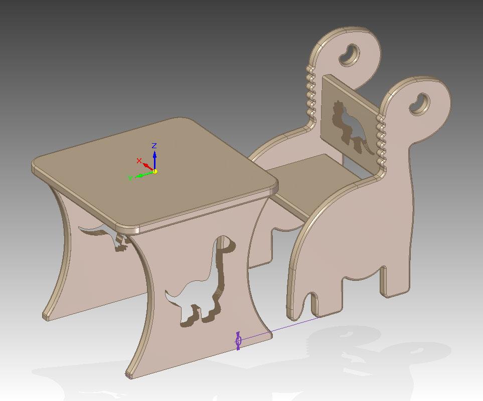 دانلود پروژه طراحی میز و صندلی کودک
