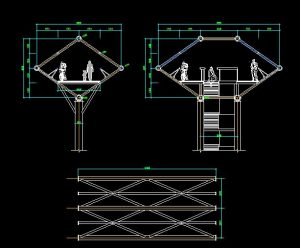 دانلود پروژه طراحی نقشه مقطع پل عابر پیاده