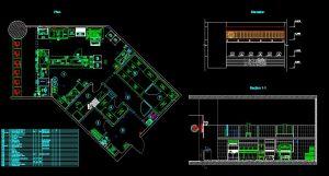 دانلود پروژه طراحی نقشه و پلان آشپزخانه رستوران