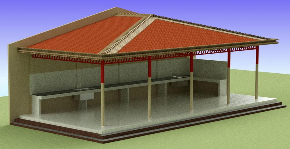 دانلود پروژه طراحی نقشه و پلان آشپزخانه فضا باز