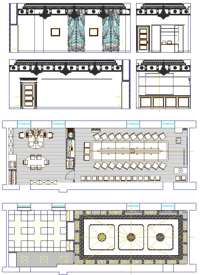 دانلود پروژه طراحی نقشه و پلان اتاق کنفرانس