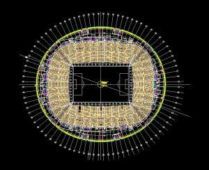 دانلود پروژه طراحی نقشه و پلان استادیوم فوتبال 6 طبقه مدرن (4)