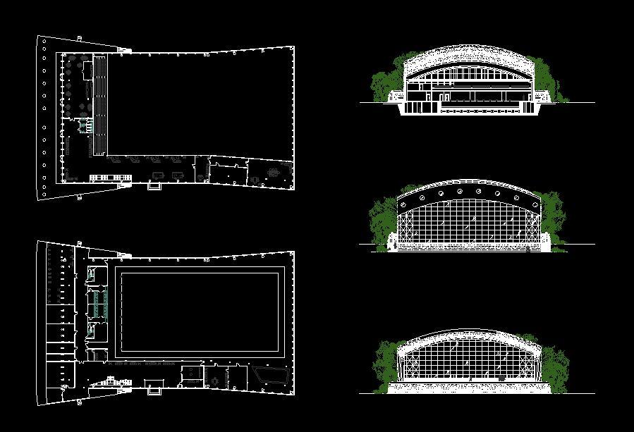 دانلود پروژه طراحی نقشه و پلان استخر سرپوشیده مدرن (2)