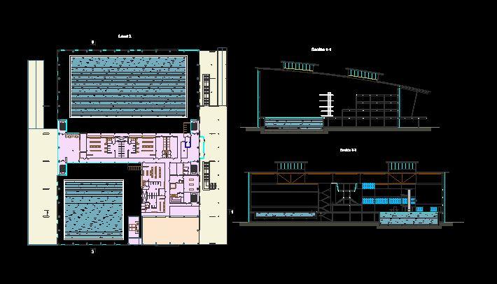 دانلود پروژه طراحی نقشه و پلان استخر سرپوشیده (1)