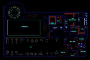 دانلود پروژه طراحی نقشه و پلان باشگاه بدنسازی