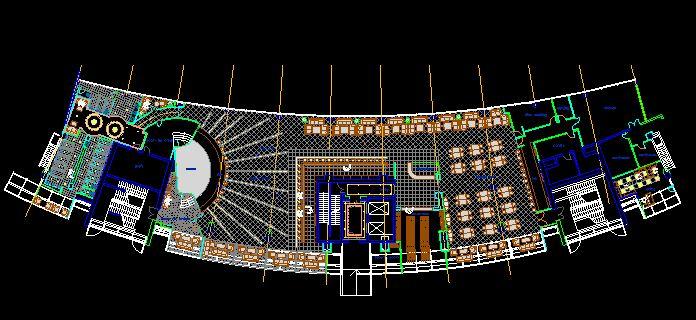 دانلود پروژه طراحی نقشه و پلان باشگاه شب