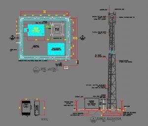 دانلود پروژه طراحی نقشه و پلان دکل مخابراتی (1)