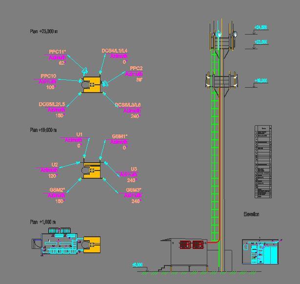 دانلود پروژه طراحی نقشه و پلان دکل مخابراتی (2)