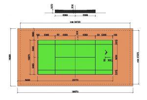 دانلود پروژه طراحی نقشه و پلان زمین تنیس