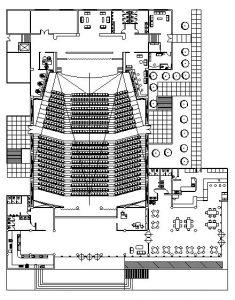دانلود پروژه طراحی نقشه و پلان سالن کنسرت و تئاتر (2)