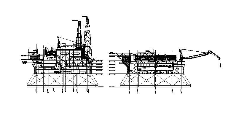 دانلود پروژه طراحی نقشه و پلان سکوی نفت