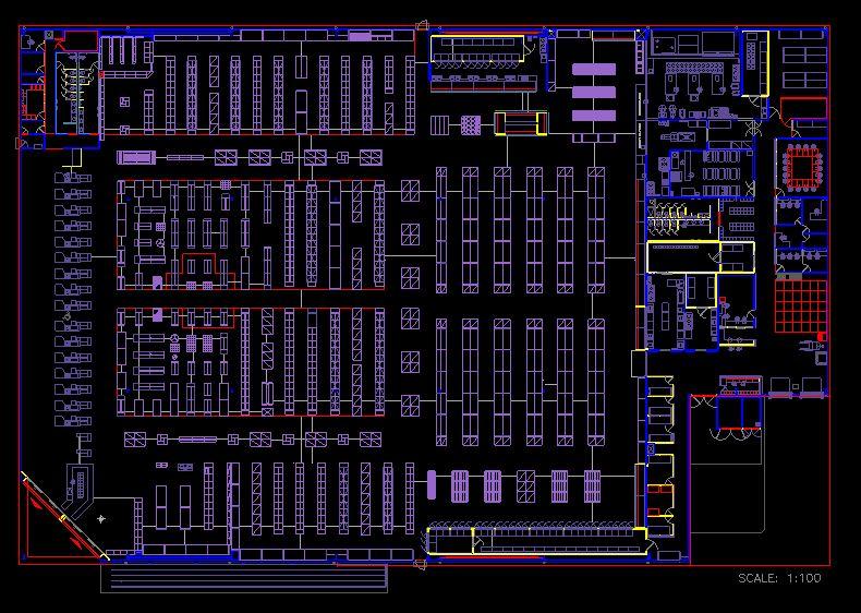 دانلود پروژه طراحی نقشه و پلان فروشگاه زنجیره ای (سوپرمارکت بزرگ) 2