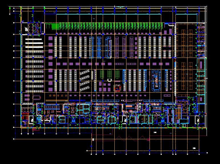 دانلود پروژه طراحی نقشه و پلان فروشگاه زنجیره ای (سوپرمارکت بزرگ)