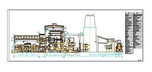 دانلود پروژه طراحی نقشه و پلان نیروگاه حرارتی 1000 مگاواتی