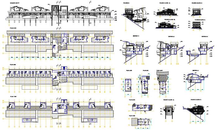 دانلود پروژه طراحی نقشه و پلان هتل کوهستانی لاکچری