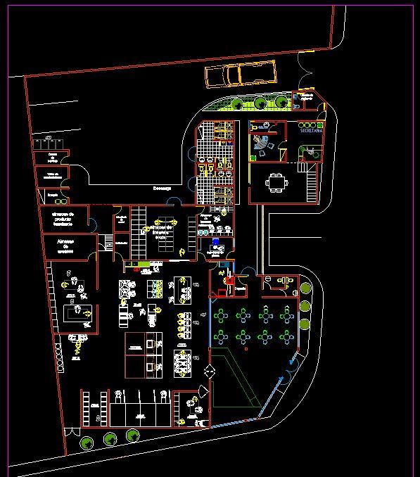 دانلود پروژه طراحی نقشه و پلان کارخانه نان (2)
