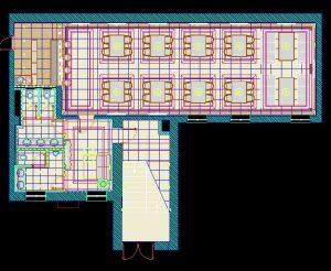 دانلود پروژه طراحی نقشه و پلان کافی شاپ ( کافه تریا چایخانه قهوه خانه )