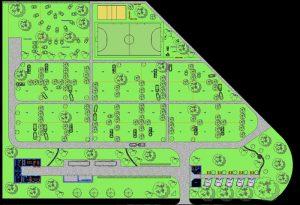 دانلود پروژه طراحی نقشه و پلان کمپین (پارک اردو)