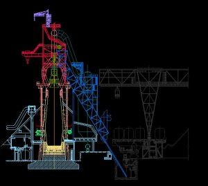 دانلود پروژه طراحی نقشه و پلان کوره بلند ذوب آهن
