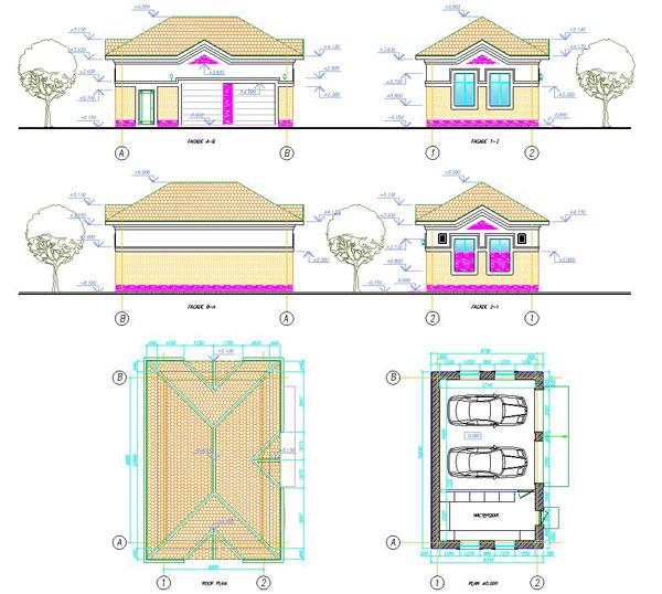 دانلود پروژه طراحی نقشه و پلان گاراژ