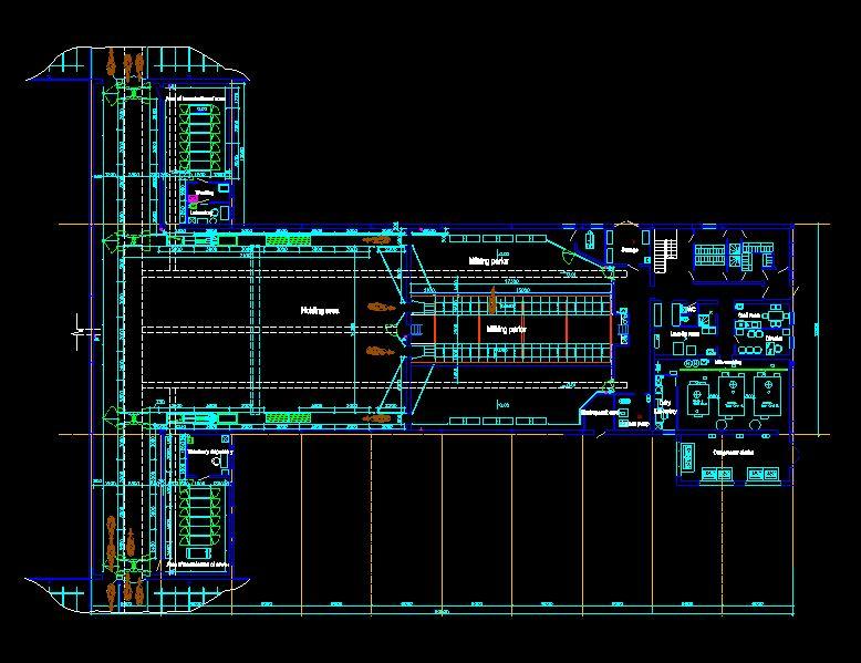 دانلود پروژه طراحی نقشه و پلان گاوداری( تولیدی شیر و لبنیات صنعتی)