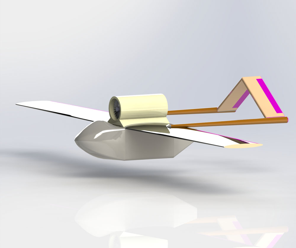 دانلود پروژه طراحی هواپیمای بدون سرنشین uav