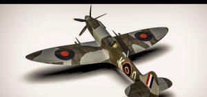 دانلود پروژه طراحی هواپیمای جنگنده کلاسیک اسپیتفایر (2)