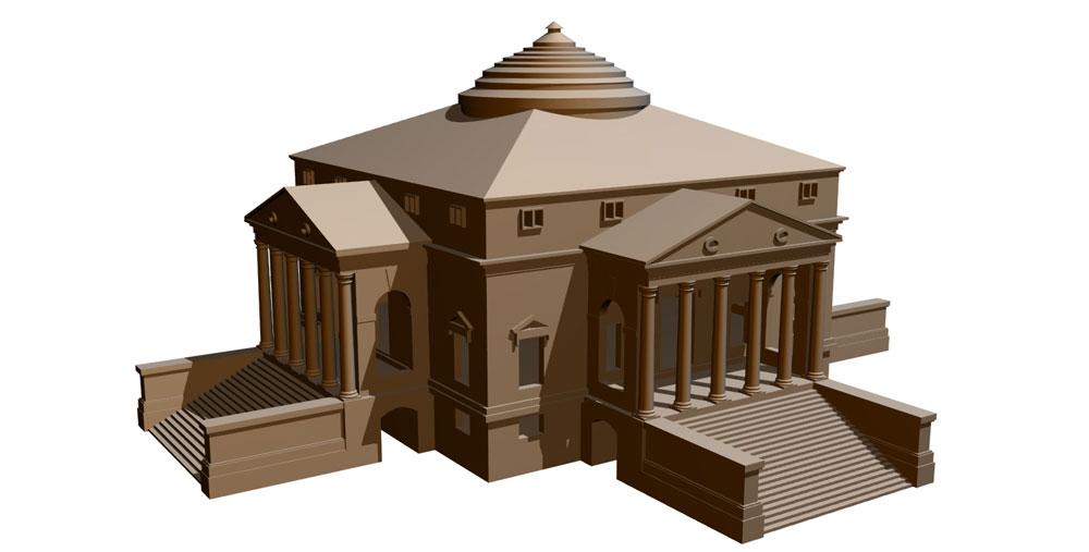 دانلود پروژه طراحی ویلا سبک معماری پالادیان