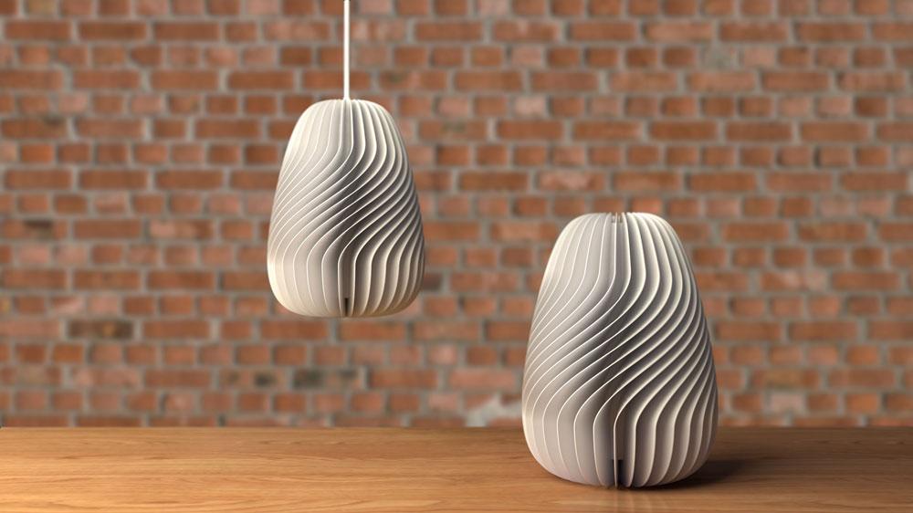دانلود پروژه طراحی چراغ آویز مدرن