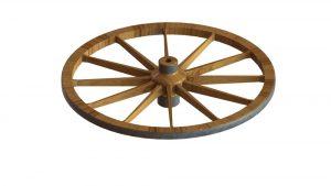 دانلود پروژه طراحی چرخ چوبی کالسکه (درشکه)