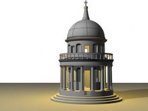 دانلود پروژه طراحی کلیسا سبک معماری برامانته
