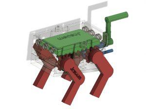 ربات اسباب بازی مکانیکی دونده قدم زن طرح سگ (2)