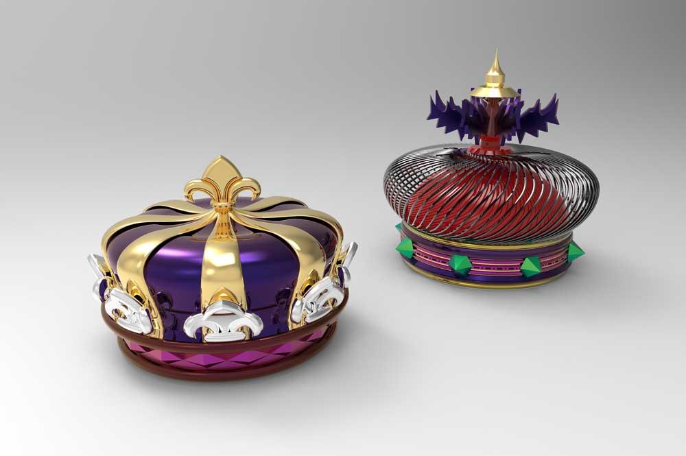 دانلود پروژه طراحی تاج سلطنتی (پادشاه و ملکه)