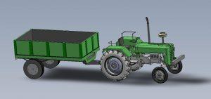 دانلود پروژه طراحی تراکتور و تریلی ( تریلر )
