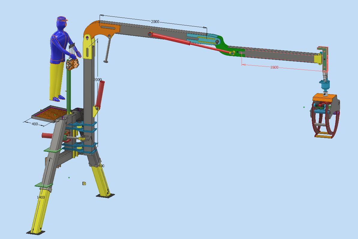دانلود پروژه طراحی جرثقیل مدل زد (Z-Crane)