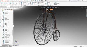 دانلود پروژه طراحی دوچرخه کلاسیک Velocipede