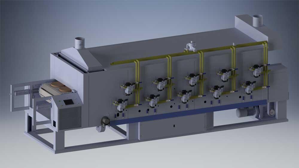 دانلود پروژه طراحی فر تونلی (اجاق صنعتی)