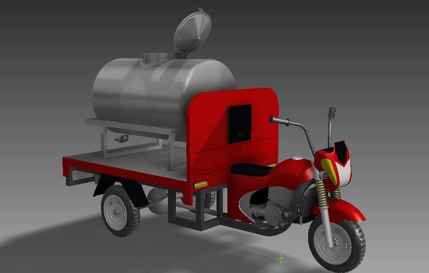 دانلود پروژه طراحی موتور سیکلت سه چرخ تانکردار