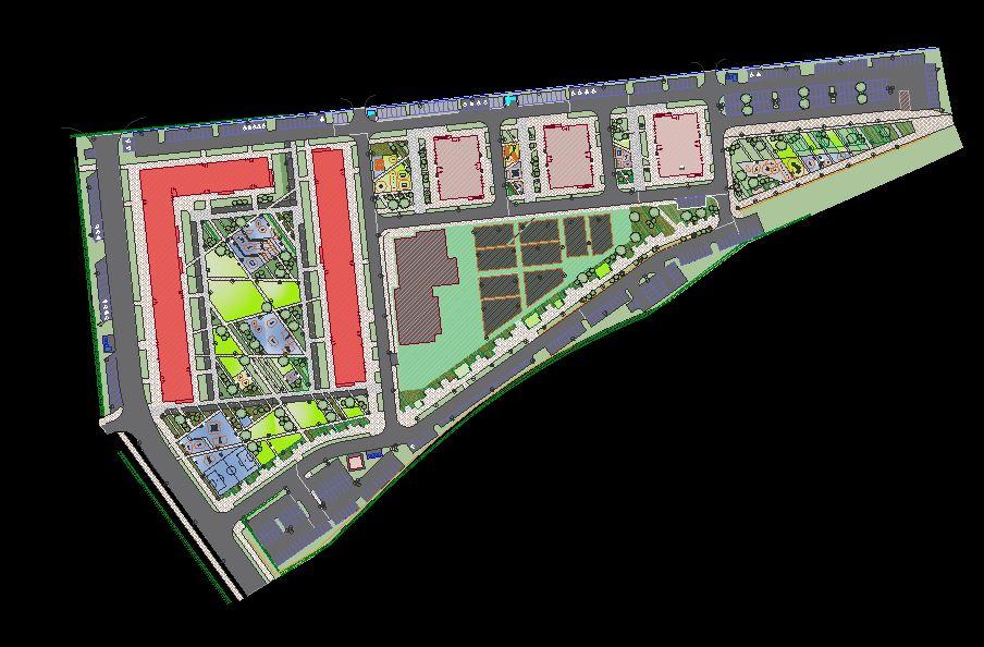 دانلود پروژه طراحی نقشه و پلان شهر مدرن 4